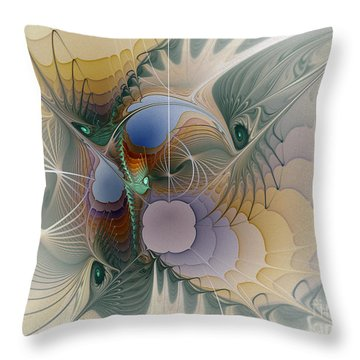 Airy Space-fractal Art Throw Pillow