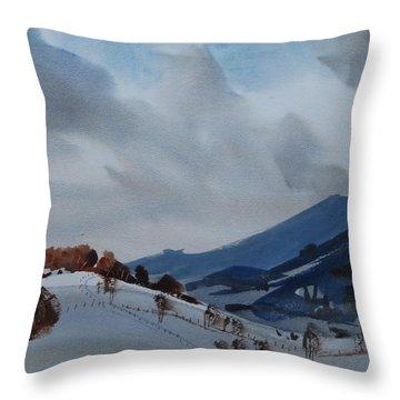 Airyhill Throw Pillow by Len Stomski