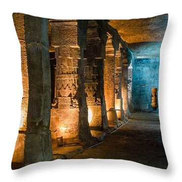 Ajanta Caves Throw Pillow