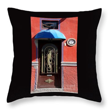 Ajijic Door #8 Throw Pillow