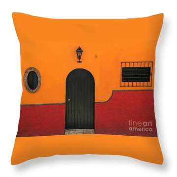 Ajijic Door No.4 Throw Pillow