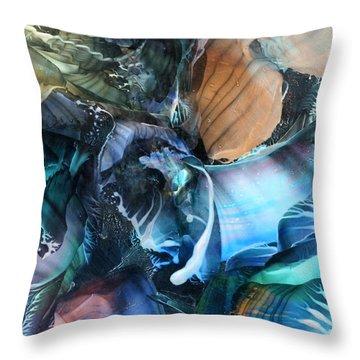 Akashic Memories From Subsurface Throw Pillow by Cristina Handrabur
