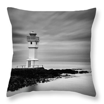Akranes Lighthouse Throw Pillow