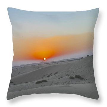 Al Ain Desert 12 Throw Pillow