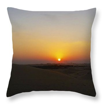 Al Ain Desert 15 Throw Pillow
