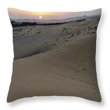 Al Ain Desert 8 Throw Pillow