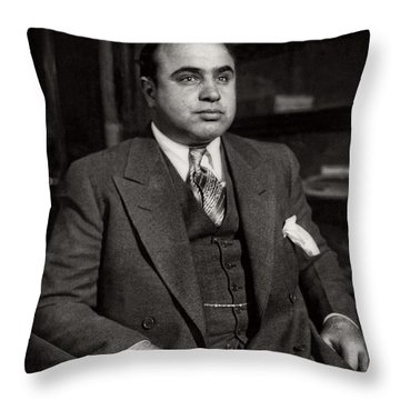 Al Capone - Scarface Throw Pillow