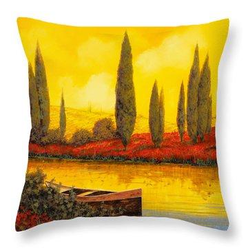 Al Tramonto Throw Pillow by Guido Borelli