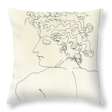 Throw Pillow featuring the sculpture Ala Angelo by Don Koester