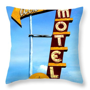 Ala Cozy Motel Throw Pillow