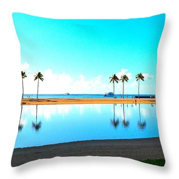 Peaceful Reflections Throw Pillow