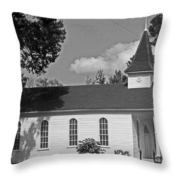 Alabama Church Throw Pillow by Kimberly Saulsberry