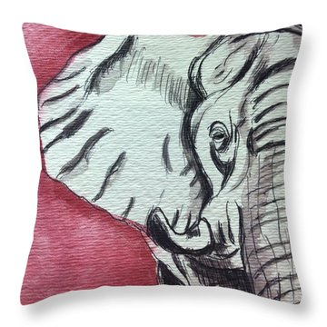 Alabama Elephant Throw Pillow