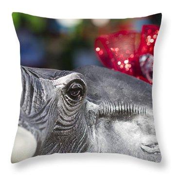 Alabama Football Pachyderm Throw Pillow by Kathy Clark