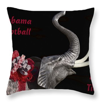 Alabama Football Roll Tide Throw Pillow by Kathy Clark