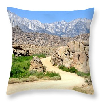 Throw Pillow featuring the photograph Alabama Hills by Marilyn Diaz