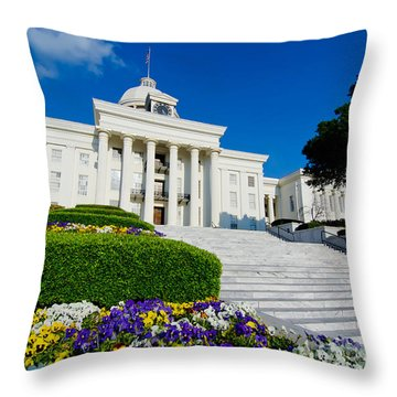 Alabama State Capitol Building Throw Pillow