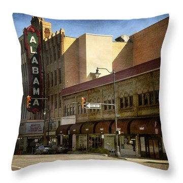 Alabama Theatre Throw Pillow