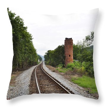 Alabama Tracks Throw Pillow by Verana Stark