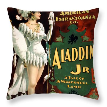 Aladdin Jr Amazon Throw Pillow