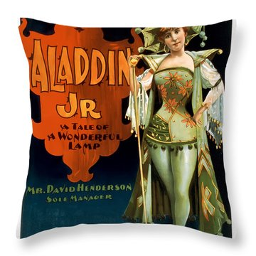 Aladdin Jr Jestor Throw Pillow by Terry Reynoldson