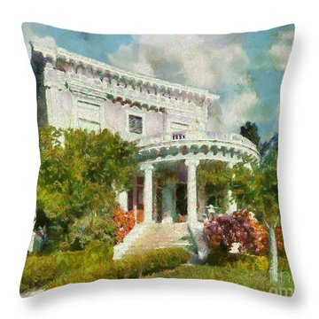 Alameda 1896-97 Colonial Revival Throw Pillow by Linda Weinstock