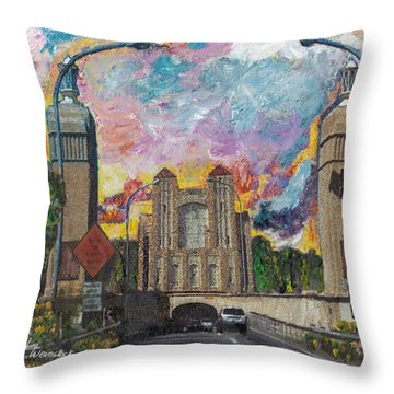 Alameda Webster Posey Tube Portal 1928 Throw Pillow by Linda Weinstock