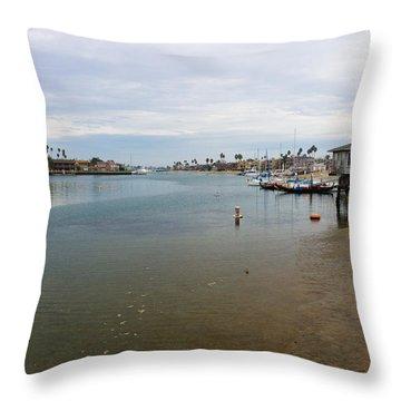 Alamitos Bay Throw Pillow by Heidi Smith