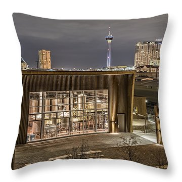 Alamo Beer Company Throw Pillow