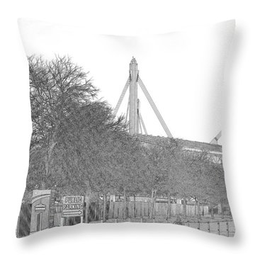 Alamo Dome Throw Pillow