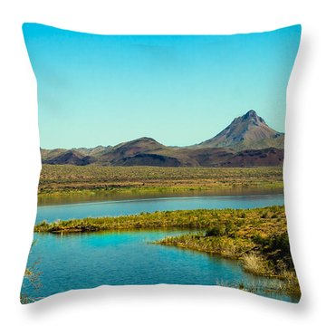 Alamo Lake Throw Pillow by Robert Bales