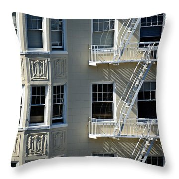 Throw Pillow featuring the photograph Alamo Square San Francisco by Steven Richman