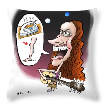 Alanis Morissette Throw Pillow