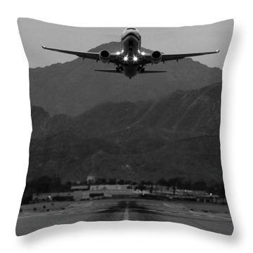 Alaska Airlines Palm Springs Takeoff Throw Pillow
