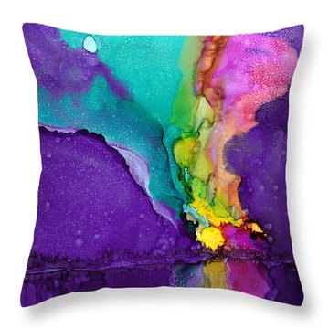 Alaska Aurora Borealis Throw Pillow by Karen Mattson