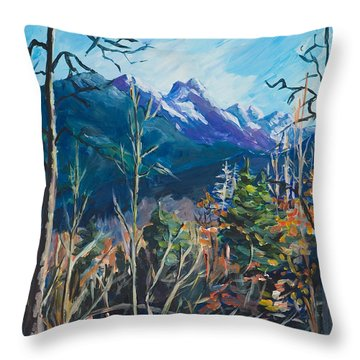 Alaska Autumn Throw Pillow