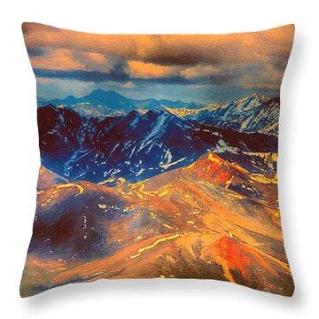 Alaska From The Air Throw Pillow