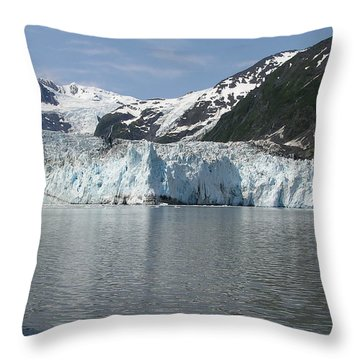 Alaska Glacier Throw Pillow