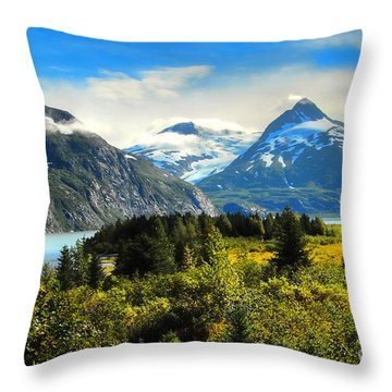 Throw Pillow featuring the photograph Alaska In All Her Glory by Dyle   Warren