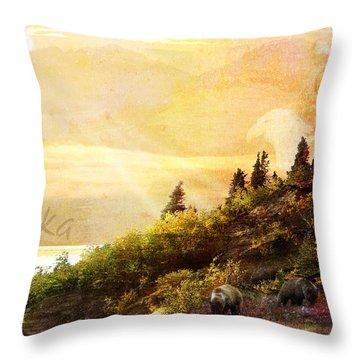 Alaska Montage Throw Pillow
