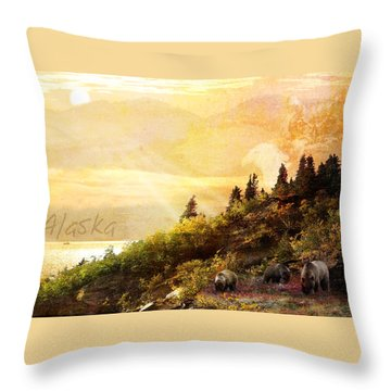 Alaska Montage Throw Pillow