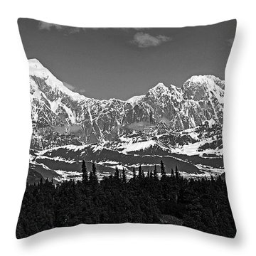 Alaska Range Throw Pillow