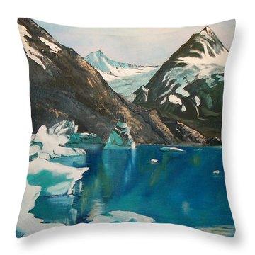 Alaska Reflections Throw Pillow by Sharon Duguay