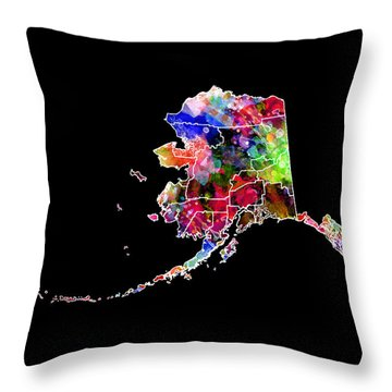 Alaska State 2 Throw Pillow by Daniel Hagerman