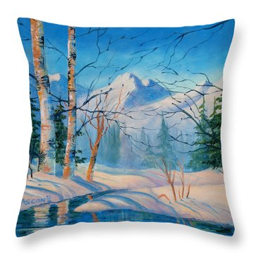 Alaska Winter Throw Pillow