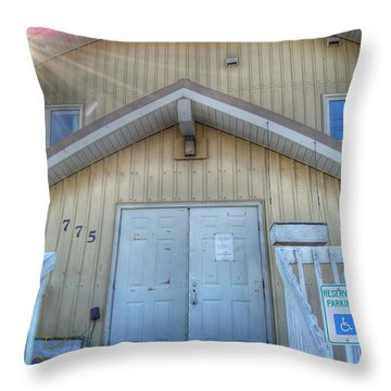 Alaskan Church Throw Pillow