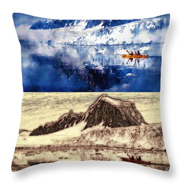 Throw Pillow featuring the photograph Alaskan Double Sojourn by Mario Carini