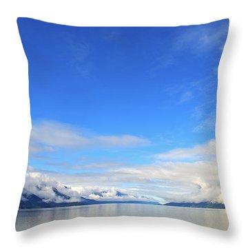 Alaskan Fiord Landscape Throw Pillow