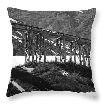Alaskan Mine Track Throw Pillow