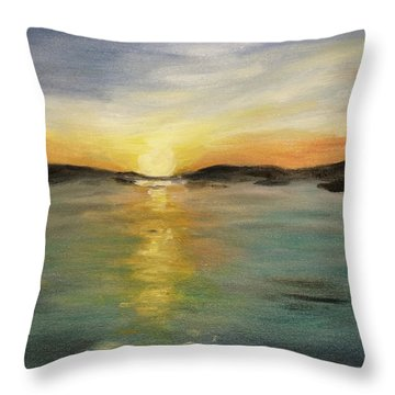 Throw Pillow featuring the painting Alaskan Sunrise by Barbara Anna Knauf
